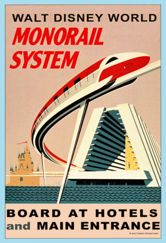The Walt Disney World Monorail System - Vintage Poster
