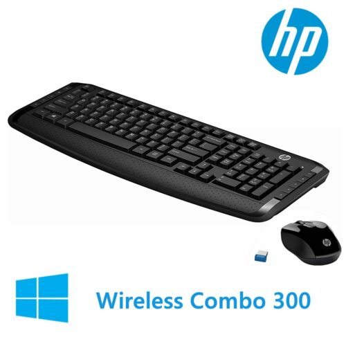 Wireless Keyboard and Mouse HP 300 Classic Desktop Combo Bundles For Laptop USB