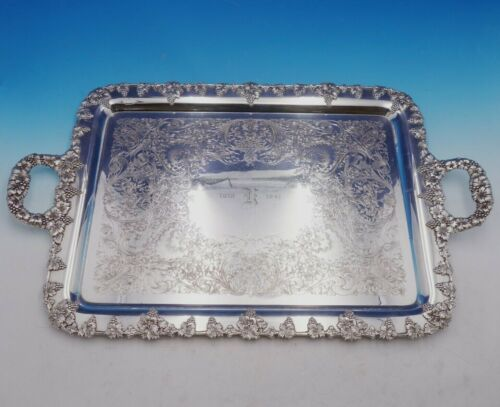 Moselle by International Silverplate Tea Tray with Grape Leaves (#4472)