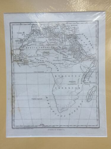 Antique map of Ancient Africa by J Wilkes, 1798.