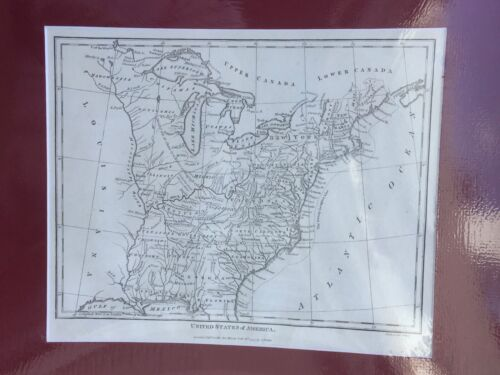 Antique map of United States of America by J Wilkes, 1797.