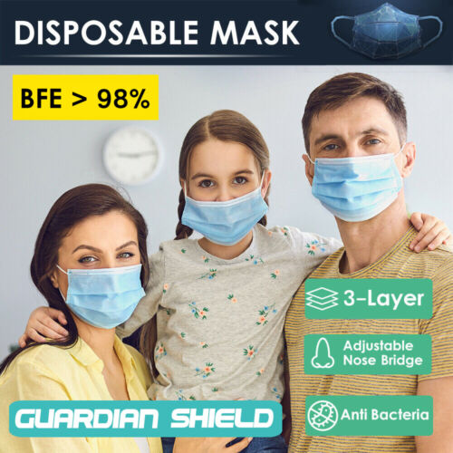 50 / 100pc Disposable Daily Protective Face Mask Anti Bacterial Filter 3 Layer  <br/> ✔Sydney Stock ✔Same Day Dispatch