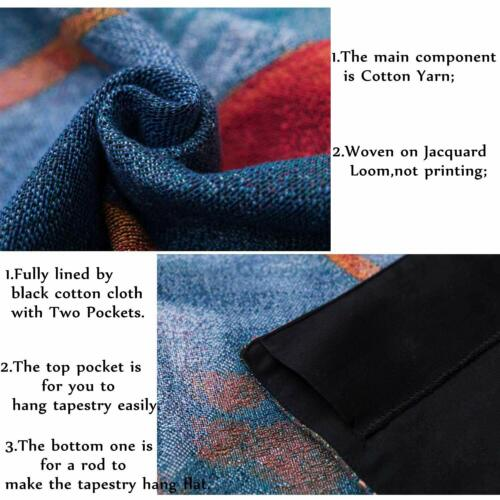 Tree of Life Blue Wall Hanging Aubusson Tapestry Antique Home Decor Living Room