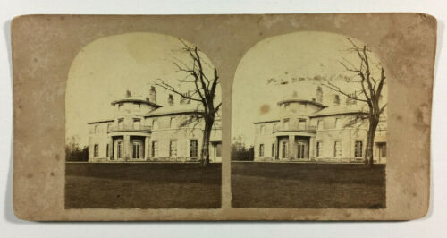 Antique Stereoview Photograph Of Large Mansion Unmarked