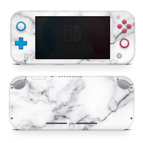 White Marble III Vinyl Skin Sticker Wrap to Cover Switch Lite