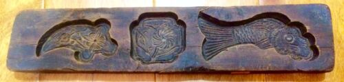 Antique Hand Carved Wooden Candy/Cookie/Cake Mold (7298), Circa Late of 1800
