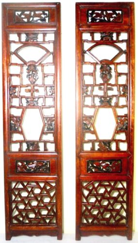 Antique Chinese Screen Panels (2619)(Pair) Cunninghamia Wood, Circa 1800-1849