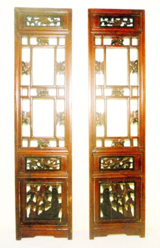 Antique Chinese Screen Panels (2814)(Pair), Cunninghamia Wood, Circa 1800-1849