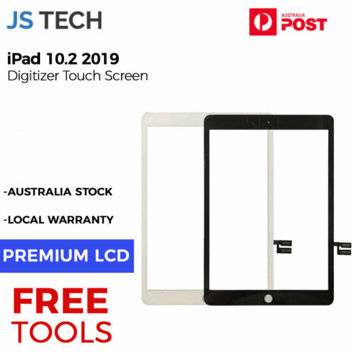 New iPad 10.2 2019 7th Gen Digitizer Display Touch Screen with Adhesive