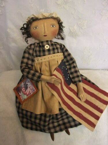 PATTERN,Sewing,Primitive dolls,Americana,Betsy Ross, Dumplinragamuffin, #290