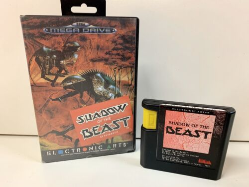 SEGA MEGADRIVE VINTAGE CONSOLE CARTRIDGE 'SHADOW OF THE BEAST' WITH CASE