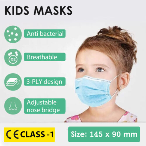 CE Kids Disposable Protective Face Mask Anti Bacterial Filter Child 3-PLY <br/> CE Mask✓  Stock Clearance✓ Get Ready for School