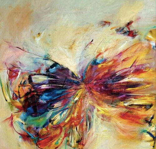 CHENPAT1058  100% handmade painted abstract butterfly oil painting art on canvas