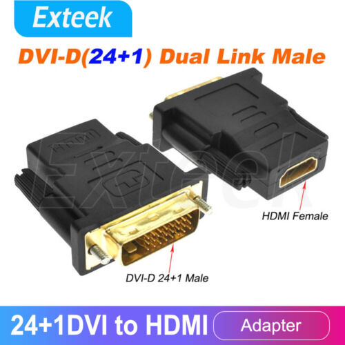 24+1 DVI-D Male to HDMI Female M/F Adapter Coupler Converter Adaptor for HDTV