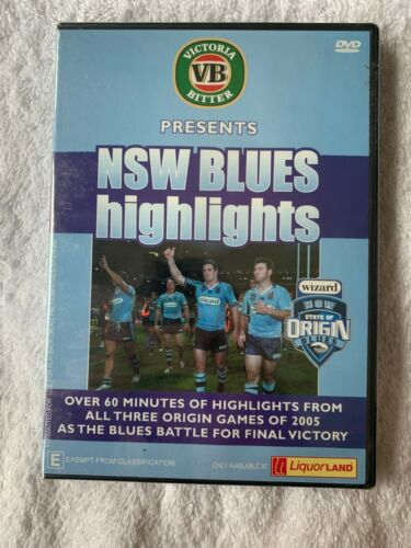 2005 STATE OF ORIGIN NSW BLUES HIGHLIGHTS DVD New Sealed