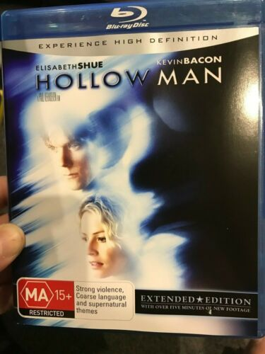 Hollow Man - Extended Edition BLU RAY (2000 Kevin Bacon sci-fi thriller movie)