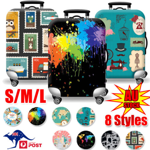"""18-32"""" Travel Luggage Suitcase Case Cover Elastic Scratch Dustproof Protectors"""