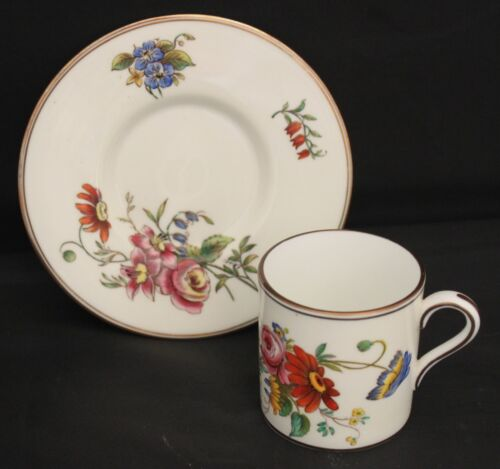 Wedgwood Posey Sprays W 3043 Demi Cup & Saucer Set Made In England