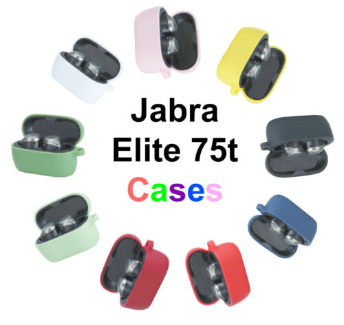 Silicone Protective Case Cover for Jabra Elite Active 75t