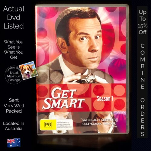 Get Smart Season 1 Region 4 HBO Time Life 90 Minutes 7 Discs Very Clean