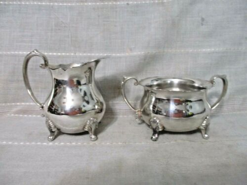 Vintage Towle Silverplated Creamer #2827 & Open Sugar #2826