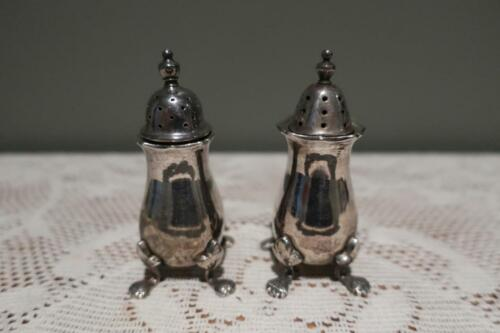 Vintage Strachan Silver Plated Pepper Shakers - Not Matching - Need Polish - Gc