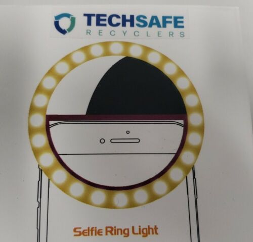 Selfie Ring Light Rechargeable Portable Clip-on Selfie Light 36 LED White *NEW*