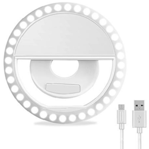 Selfie Ring Light, ELITE Rechargeable Portable Clip-on 40 LED Circle Lights NEW*