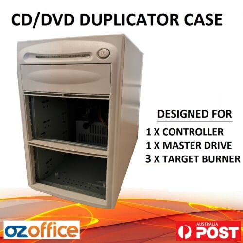 1 to 3 CD DVD Duplicator Case Tower - Includes Power Supply Unit