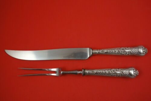 Coburg by Mary Chawer English Sterling Silver Roast Carving Set 2pc HH WS c.1836