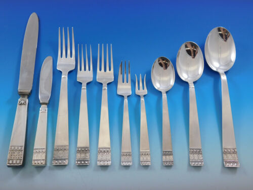 Donatello by Stancampiano Italy Sterling Silver Flatware Set Service Dinner