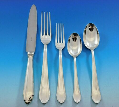 Palladio by Buccellati Italy Silver Flatware Set for 12 Service 60 pcs Dinner