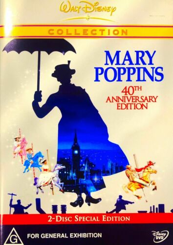 Ee14 Brand New Sealed-Mary Poppins (DVD, 2004, 2-Disc Set)  R4 Rare