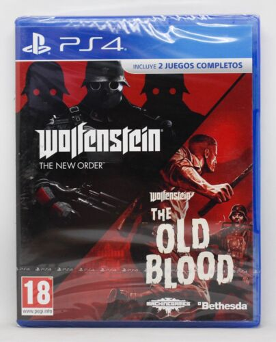 WOLFENSTEIN THE TWO PACK NEW ORDER OLD BLOOD PLAYSTATION 4 PS4 PAL ESPAÑA NUEVO