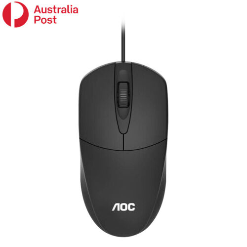 AOC Optical LED Wired Mouse Mice With USB Cable For PC Laptop Computer