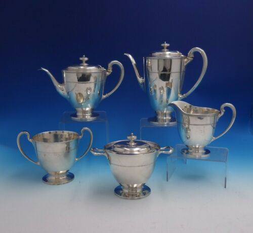 Hampton by Tiffany and Co Sterling Silver Tea Set 5-Piece (#4797) Heirloom