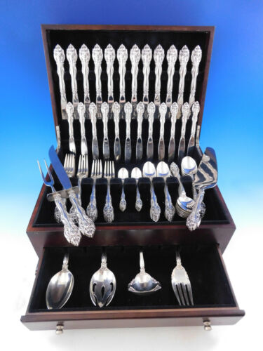 La Scala by Gorham Sterling Silver Flatware Service for 12 Set 91 pieces
