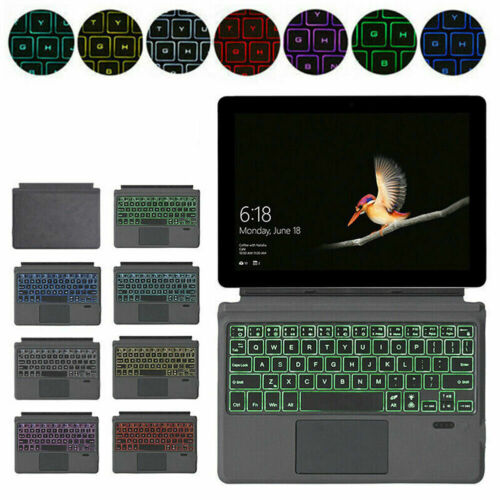 For Microsoft Surface Pro 3 4 5 6 7 Go 1/2 Backlit Bluetooth Keyboard Touch Pad