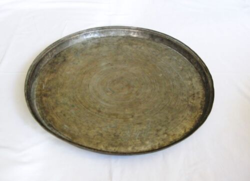 Antique large copper tray/baking dish Ottoman Turkish Hand hammered solid