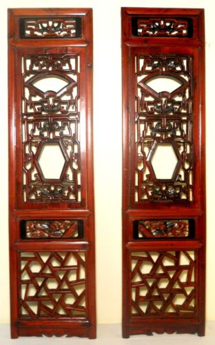 Antique Chinese Screen Panels (2796) (Pair) Cunninghamia wood, Circa 1800-1849