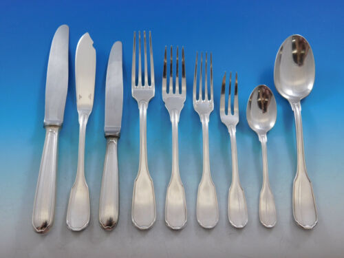 Plunir by Christofle France Silverplate Flatware Service Set 54 pieces