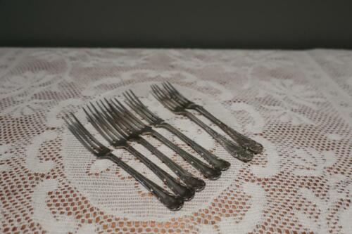 Antique Silver Plated Oyster Forks x 7 - 5 Plus 2 - WR Humphries - 1890