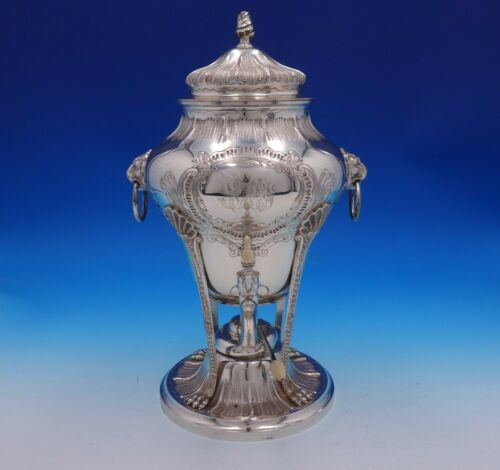 George II by Tuttle Sterling Silver Coffee Urn w/Lion Handles Paws #435 (#4882)