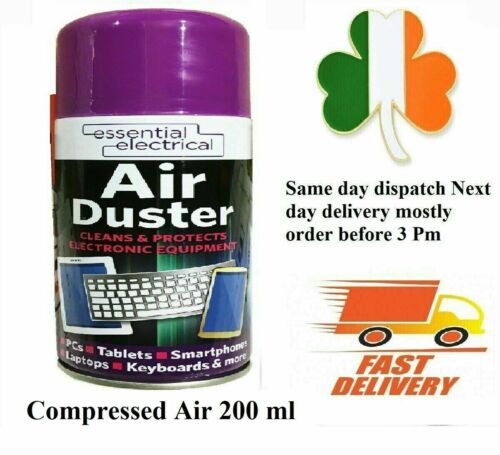 Compressed Air Duster Spray 200ml Can Cleans & Protects Laptops Keyboards mobile