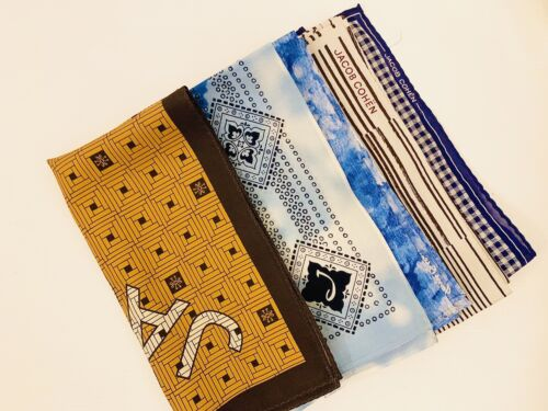 Lotto -  5 foulard JACOB COHEN - New With out Tag- 55x55cm Cotton 70% Silk 30%