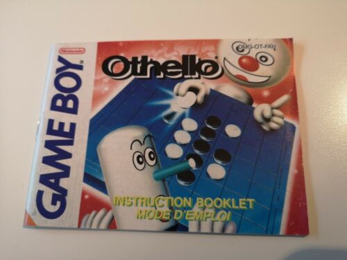 Notice - Instruction Booklet Othello Game Boy FAH