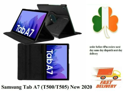 Samsung Galaxy Tab A7 10.4 2020 T500 T505 PU Leather Flip Smart Case Cover black