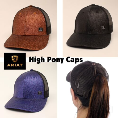 Ariat Sparkle Alto Pony ~Cappello Baseball~ Messy Ciambella, Osfm Regolabile, IN