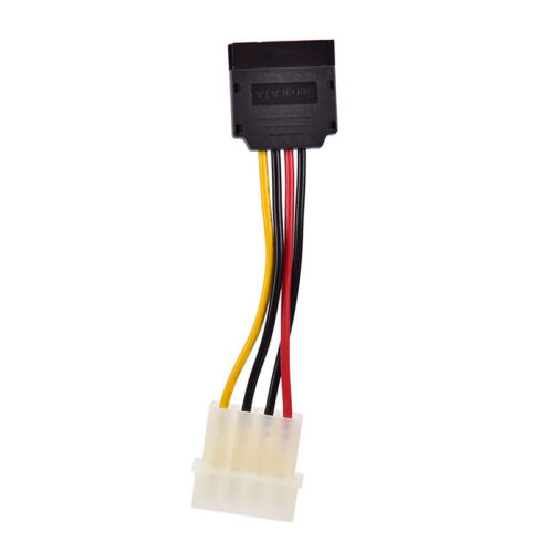 Molex to SATA Power Adaptor Cable 4 pin to 15 pin For HDD Hard Drive.cd