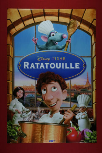 Walt Disney Ratatouille Mouse Cook Collectible Movie 2007 Poster 24X36 New  RATE